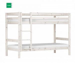 Flexa - lit superposé flexa en pin vernis blanchi couchage - Etagenbett