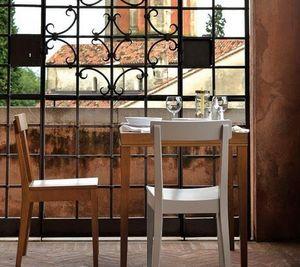 Calligaris - petite table repas la locanda calligaris 70x70 str - Quadratischer Esstisch