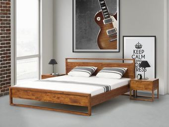 BELIANI - lits en bois - Doppelbett