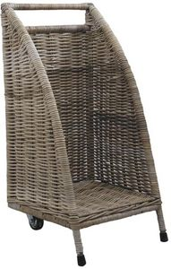 Aubry-Gaspard - chariot à buches à roulettes - Holzträger
