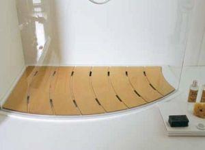 Samo - caillebotis trendy-- - Eingebautes Duschbecken