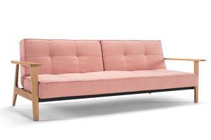 INNOVATION - canapé lit design splitback frej rouge convertible - Bettsofa