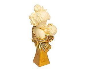 Demeure et Jardin - mere et son enfant - Kleine Statue