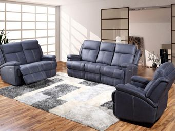 WHITE LABEL - salon complet relax électrique - mirvin - l 193 x - Sitzgruppe