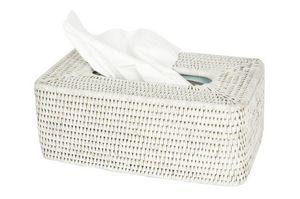 BaolgiChic - rotin blanc - Papiertaschentuch Behälter
