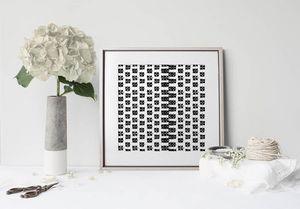 la Magie dans l'Image - print art lotus blanc noir - Poster