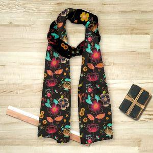 la Magie dans l'Image - foulard happy flowers - Vierecktuch