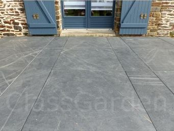 CLASSGARDEN - terrasse de 40 m² en dalles sciée de 80x80 - Bodenplatten Außenbereich