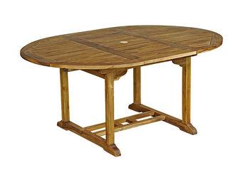 CEMONJARDIN - table ronde baya 120/170 - teck huilé - Gartentisch Oval