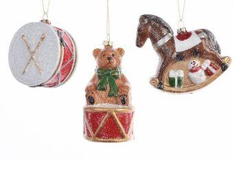 Kaemingk - figurines de noël à suspendre lot de 3 pièces - Weihnachtsbaumschmuck