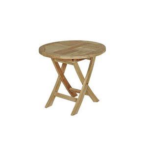 BOIS DESSUS BOIS DESSOUS - table de jardin enfant en bois de teck midland - Gartenklapptisch