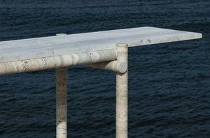 CLEMENT BRAZILLE - -ocean travertine - Konsolentisch