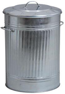 AUBRY GASPARD - poubelle de cuisine en zinc lourd - Küchenabfalleimer