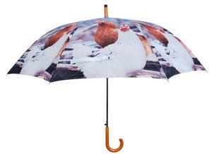 Esschert Design - parapluie poule en nylon et bois poule - Regenschirm