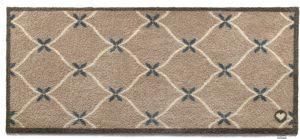 HUG RUG - tapis en fibres naturelles home cadrillage 65x150  - Fussmatte
