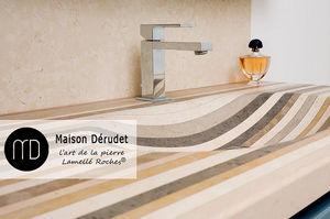 Maison Derudet - --lamellé roches - Waschbecken