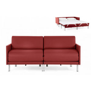 Likoolis - bosduo70m-cuirdevonrouge - Schlafcouch
