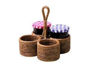 ROTIN ET OSIER - mum rond - Halter Für Marmeladengläser