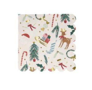 MERI MERI - festive motif large - Weihnachts Papierserviette