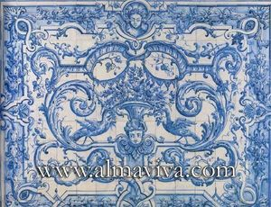 Almaviva - azulejo xviie siècle - Azulejos (fliesenmotive)