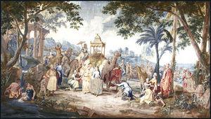 Galerie Hadjer - l´asie : le pèlerinage à la mecque - Brüsseler Wandteppich