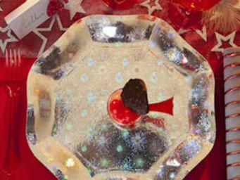 MAPLUSBELLEDECO -  - Pappteller Mit Weihnachtsmotiv