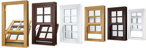 Eurocell Profiles - upvc vertical sliding sash windows - 1 Flügel Fenster
