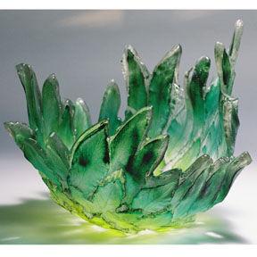 Amanda Brisbane Glass - spring leaves - Deko Schale