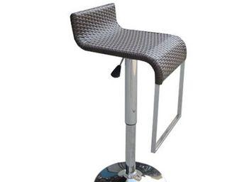 UsiRama.com - surfacourbe tabouret de bar en résine tressée - Verstellbarer Barhocker