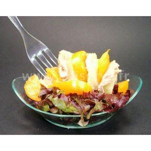 Adiserve - mini assiette ronde à oreilles par 25 - Fingerfood