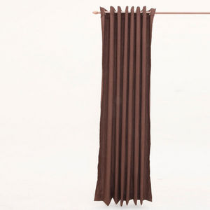 Cosyforyou - rideau aspect lin chocolat - Fertigvorhänge
