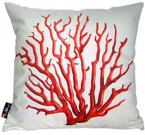 MEROWINGS - merowings red coral - Kissen Quadratisch