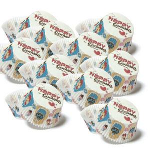 WHITE LABEL - 6 paquets de 48 moules de cuisson en papier décoré - Kuchenform