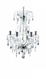 Demeure et Jardin - grand lustre romantique pampilles en verre - Kronleuchter