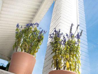 DEROMA France - cilindrico white garden - Garten Blumentopf