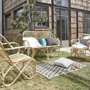 BOIS DESSUS BOIS DESSOUS - salon de jardin cosy en rotin - Gartengarnitur