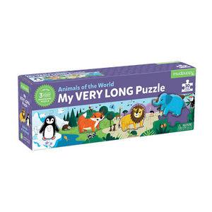 BERTOY - 30 pc long puzzle animals of the world - Kinderpuzzle