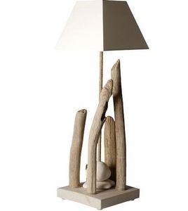 Coc'Art Créations - lampe nature élévation - Tischlampen