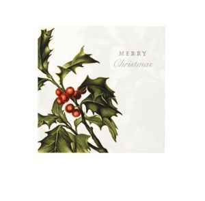 MAPLUSBELLEDECO - houx - Weihnachts Papierserviette