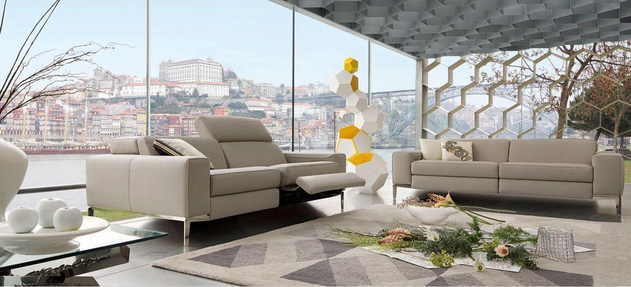 CALISTO - Sofa 3-Sitzer - Beige - Leder - ROCHE BOBOIS | Decofinder