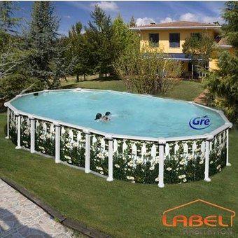 GRE - Pool mit Stahlohrkasten-GRE-Piscine GRE ASTERALES 915 x 470 x 132 cm
