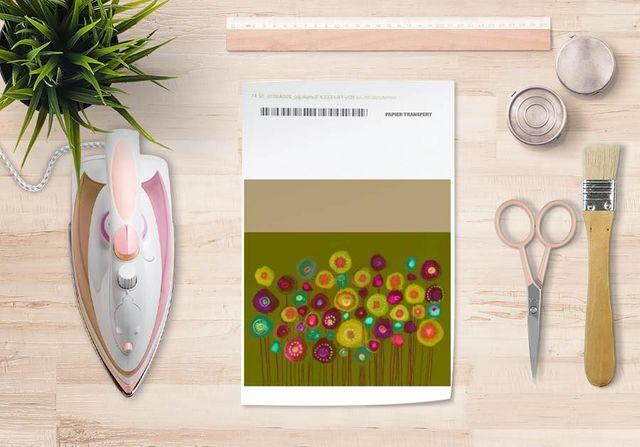 la Magie dans l'Image - Verlegung-la Magie dans l'Image-Papier transfert Bouquet Vert