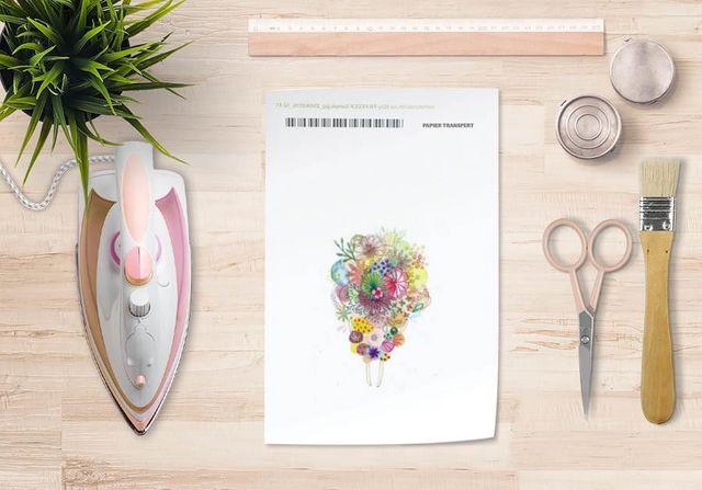 la Magie dans l'Image - Verlegung-la Magie dans l'Image-Papier transfert Un Bouquet