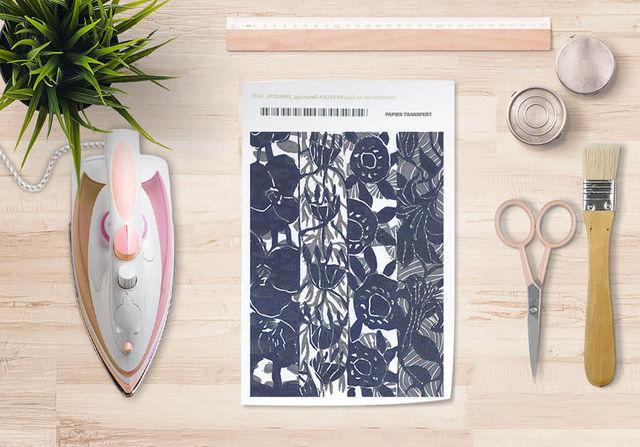 la Magie dans l'Image - Verlegung-la Magie dans l'Image-Papier transfert Végétal Gris Foncé