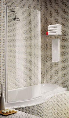 Aqualux - Duschwand-Aqualux-Curved Bath Screens