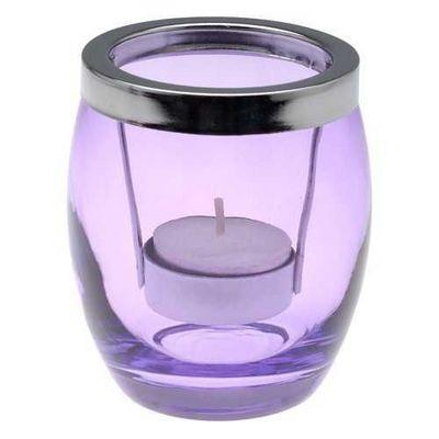 La Chaise Longue - Windlicht-La Chaise Longue-Photophore summer en verre violet 8x9.5cm