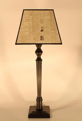 L'ATELIER DES ABAT-JOUR - Tischlampen-L'ATELIER DES ABAT-JOUR-rectangulaire Vintage