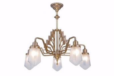 PATINAS - Kronleuchter-PATINAS-Linz 5 armed chandelier