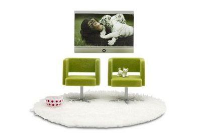 Micki Leksaker - Miniaturmöbel-Micki Leksaker-LUNDBY STOCKHOLM TV SET