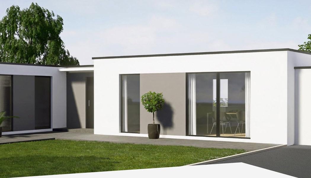 CLAIRE DEMEURE Casa con techo plano Casas individuales Casas isoladas  |